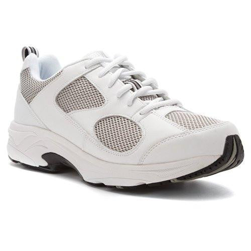 Drew Shoe Men's Lightning II Velcro Therapeutic Sneakers White - SmartFeetStore.com