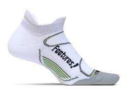 Feetures High Performance Light Cushion No Show Tab White - SmartFeetStore.com