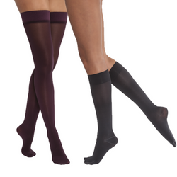 JOBST Opaque Stockings Thigh Length 20-30 mmHg Petite Open Toe - SmartFeetStore.com
