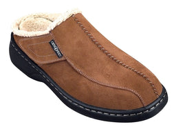 Orthofeet Asheville Men's Slipper - Brown - SmartFeetStore.com