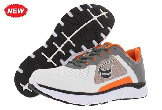 Spira  CloudWalker  Men's White/DarkGrey/Orange - SmartFeetStore.com