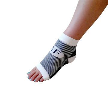 Smart Feet's Plantar Fasciitis Relief Sleeves 1 Pair White- The Best PureCompression PF Sleeve