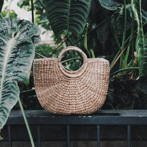 Hyacinth Woven Bag | Large | Accessories | Above Studio | [product_tag] - Fair Bazaar Ethical Living