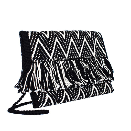 """Zig Zag"" Cotton Clutch Bag"