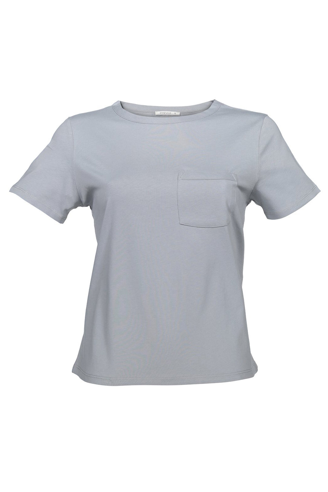 Basic T-shirt with pocket | Grey | Tops | Baseville | [product_tag] - Fair Bazaar Ethical Living
