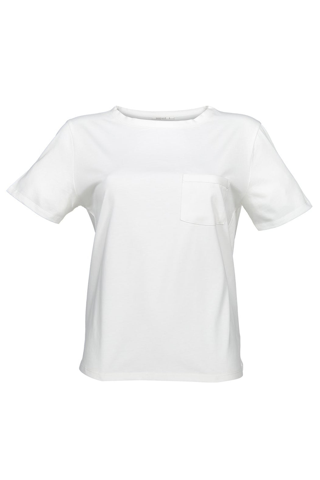 Basic T-shirt with Pocket | White | Tops | Baseville | [product_tag] - Fair Bazaar Ethical Living