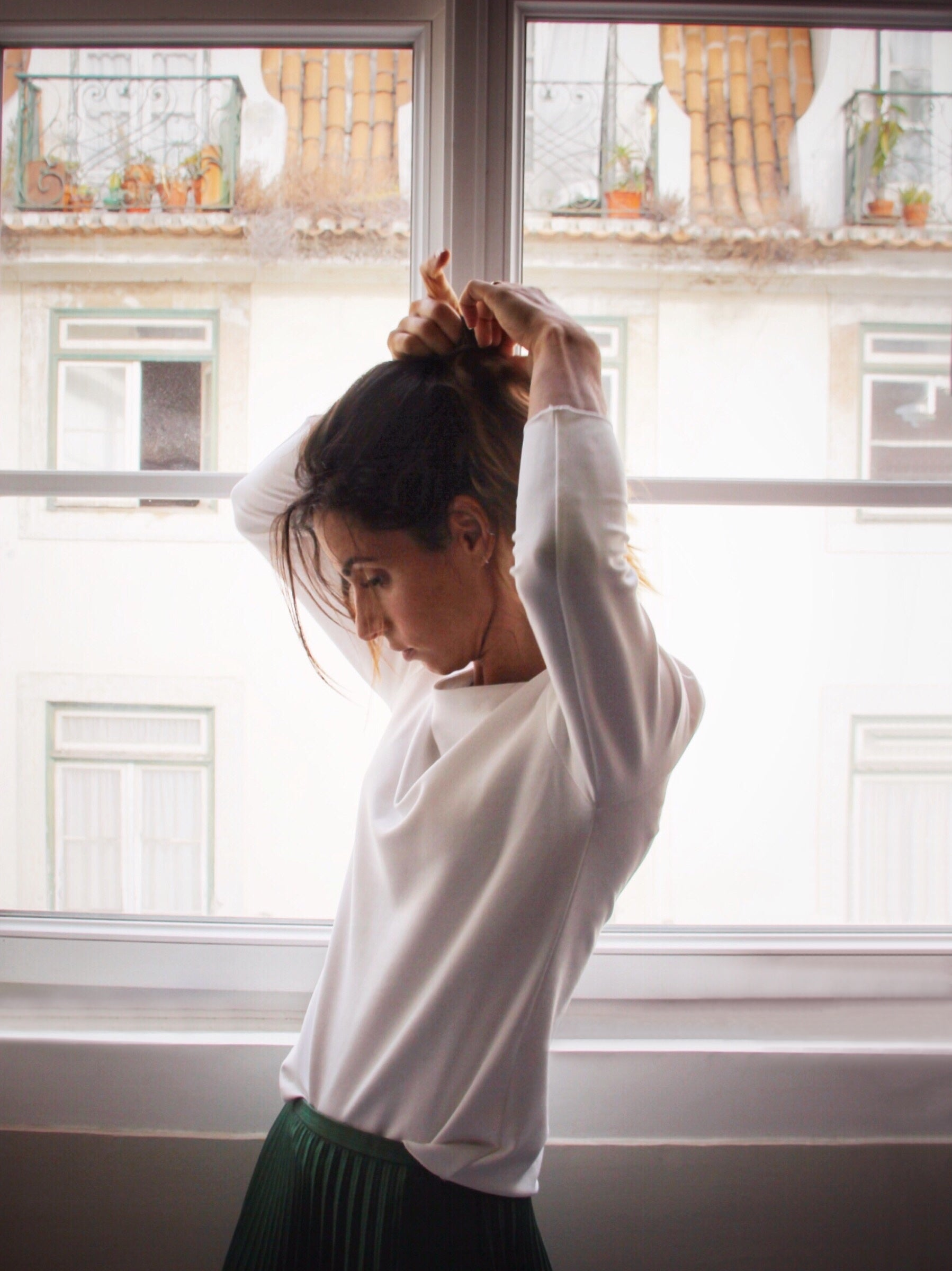 Boat Neck Long Sleeve | White | Tops | Baseville | [product_tag] - Fair Bazaar Ethical Living