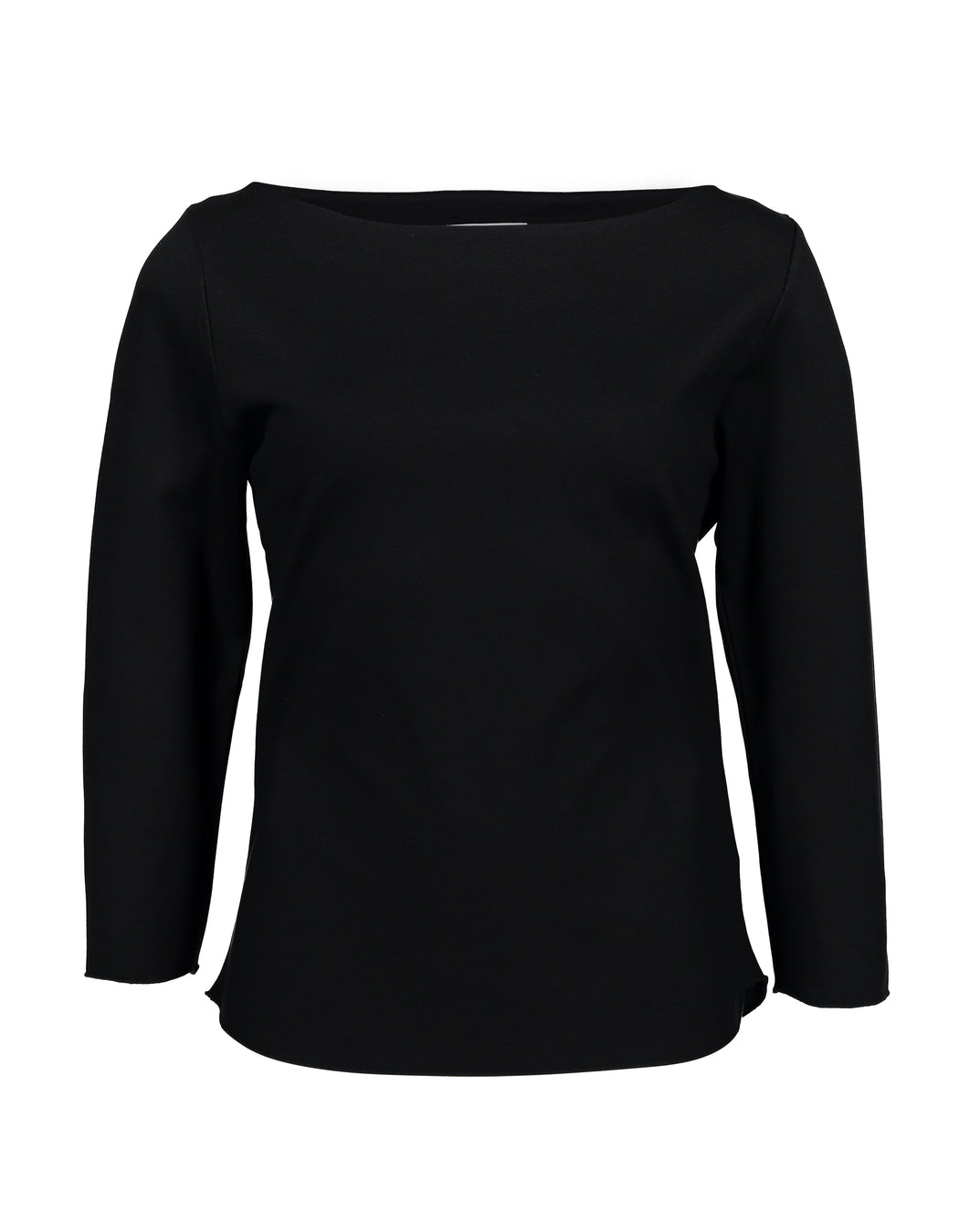 Boat Neck Long Sleeve | Black