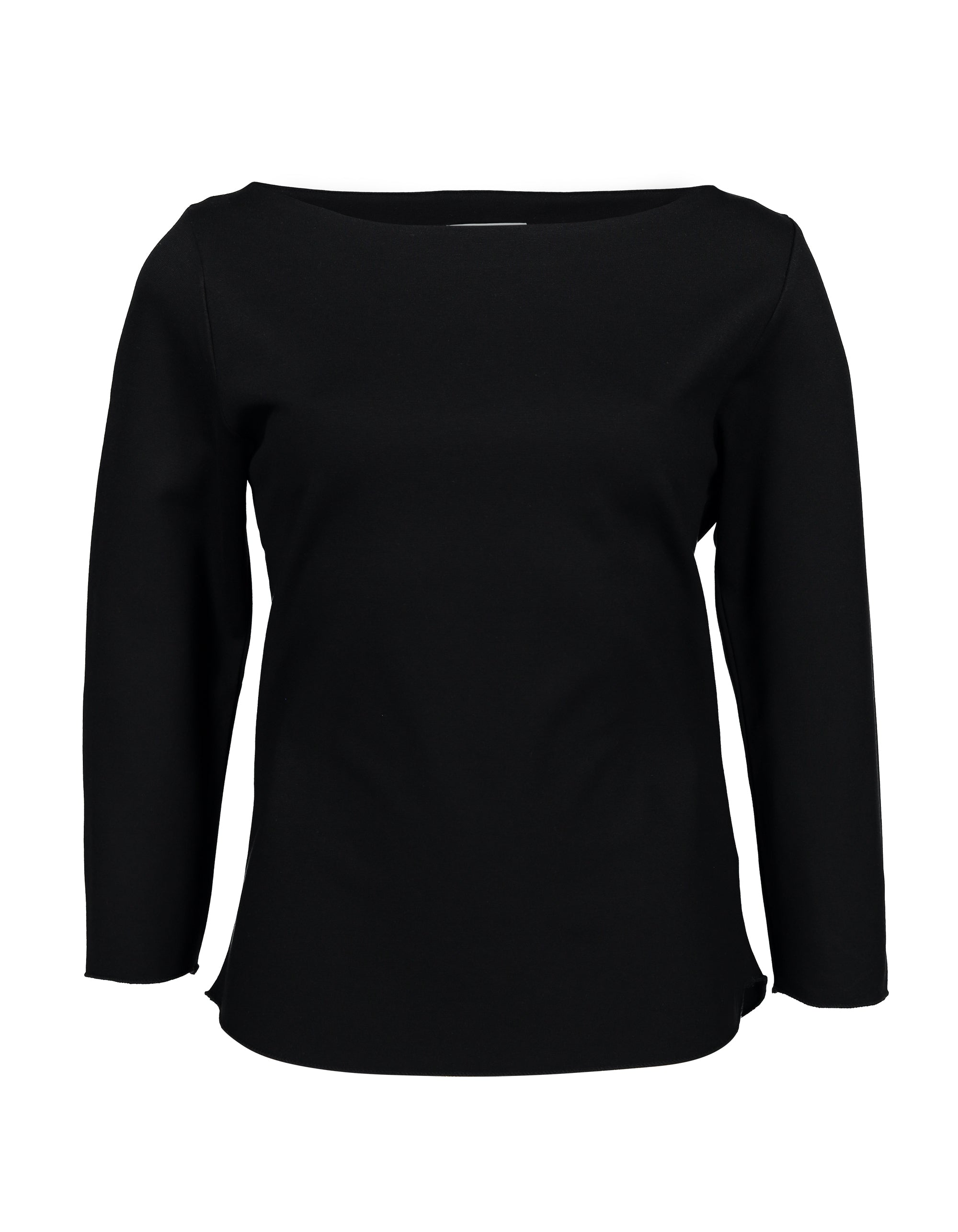 Boat Neck Long Sleeve | Black | Tops | Baseville | [product_tag] - Fair Bazaar Ethical Living