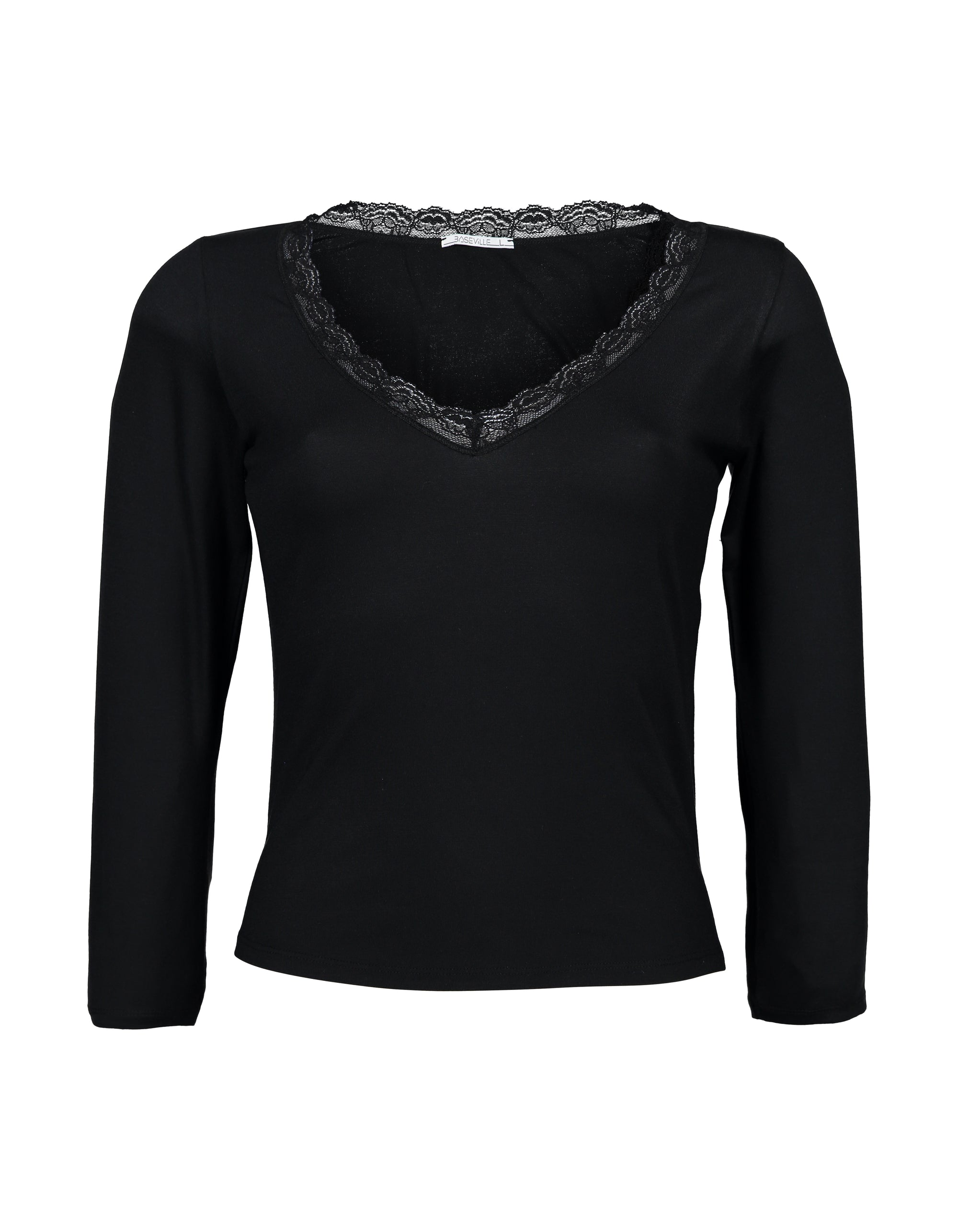 Lace V-Neck Long Sleeve | Tops | Baseville | [product_tag] - Fair Bazaar Ethical Living