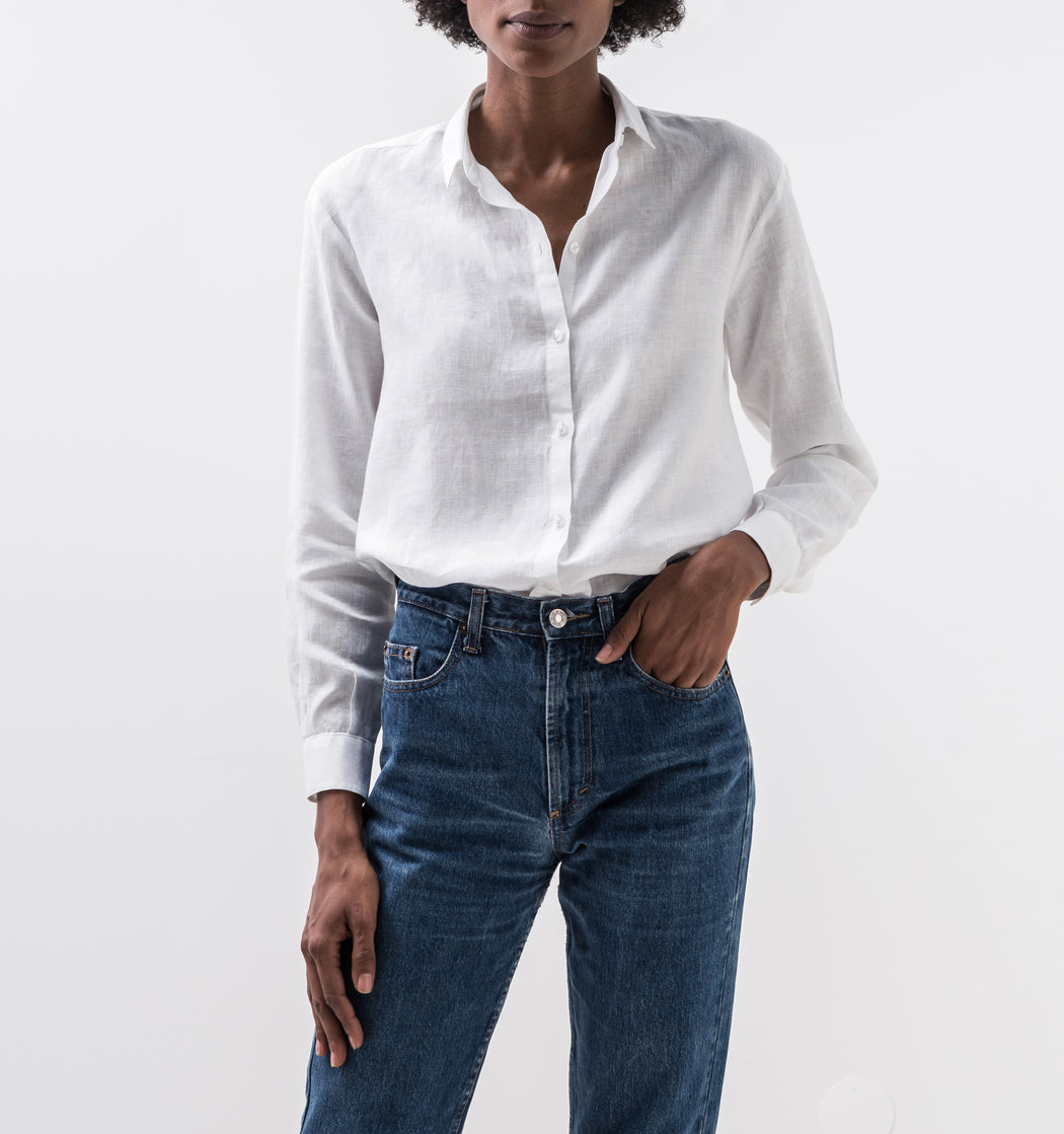 Classic Linen Shirt | Tops | ISTO. | [product_tag] - Fair Bazaar Ethical Living