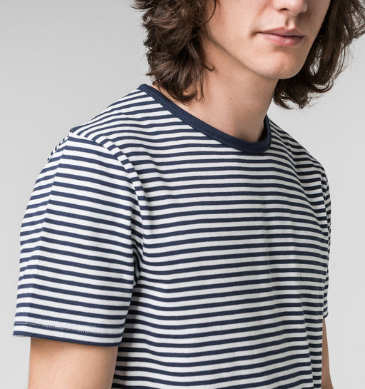 Navy Striped T-shirt | T-shirts & Sweatshirts | ISTO. | [product_tag] - Fair Bazaar Ethical Living