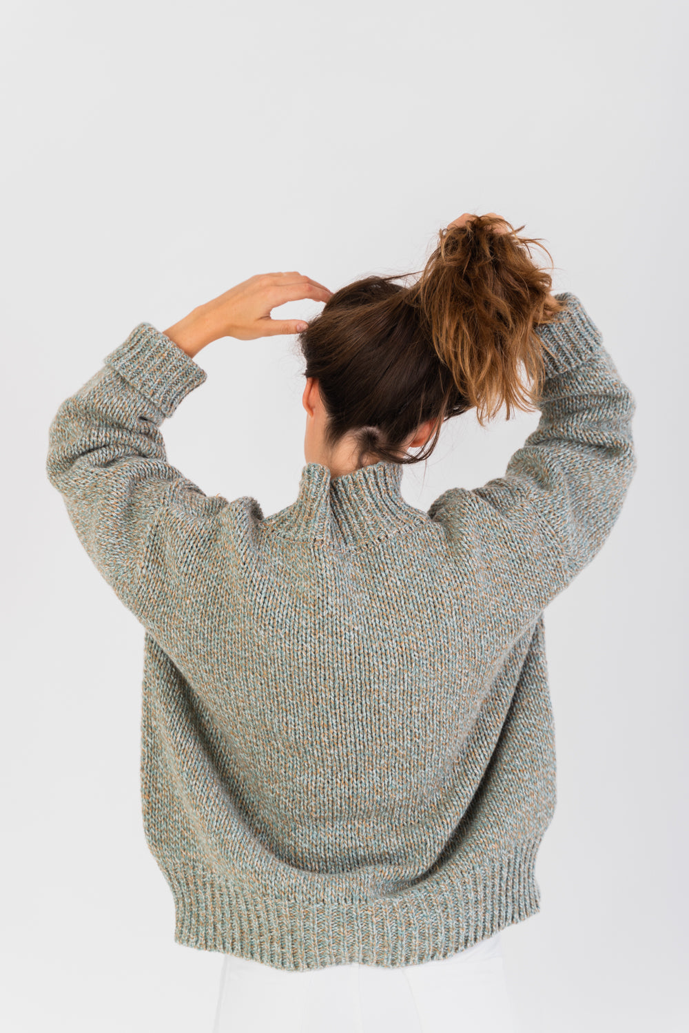 Recycled High Neck Jumper | Tops | Näz | [product_tag] - Fair Bazaar Ethical Living