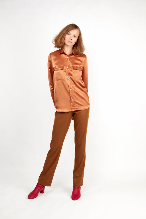 Catarina Shirt Tan - Fair Bazaar Ethical Living