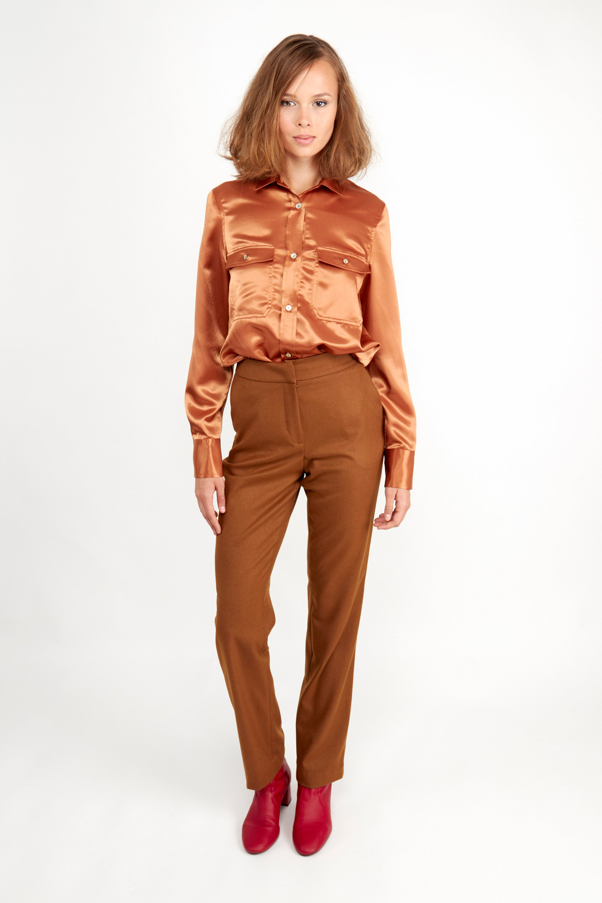 Catarina Shirt Tan | Tops | Fair Retail | [product_tag] - Fair Bazaar Ethical Living