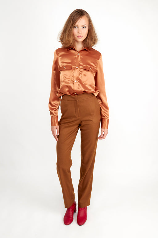 Milly Trousers Caramel | Bottoms | Fair Retail | [product_tag] - Fair Bazaar Ethical Living
