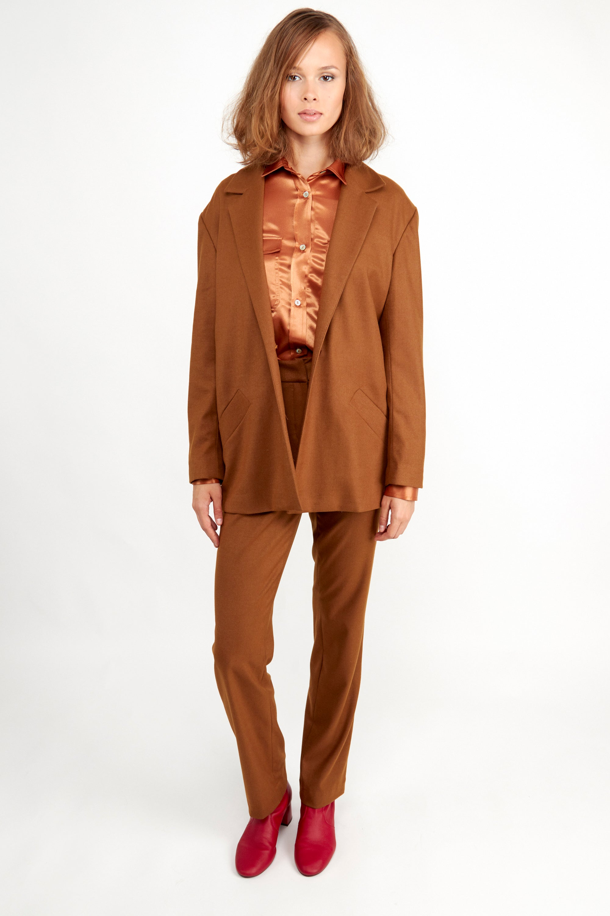 Janis Blazer Caramel | Coats & Jackets | Fair Retail | [product_tag] - Fair Bazaar Ethical Living