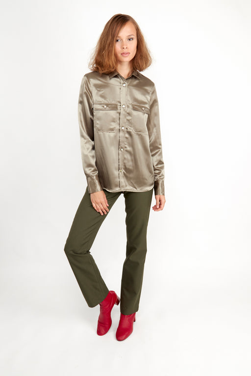 Catarina Shirt Khaki - Fair Bazaar Ethical Living