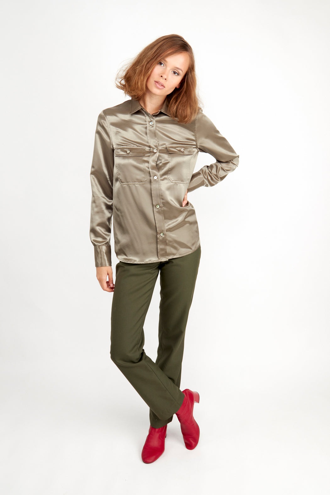 Catarina Shirt Khaki | Tops | Fair Retail | [product_tag] - Fair Bazaar Ethical Living