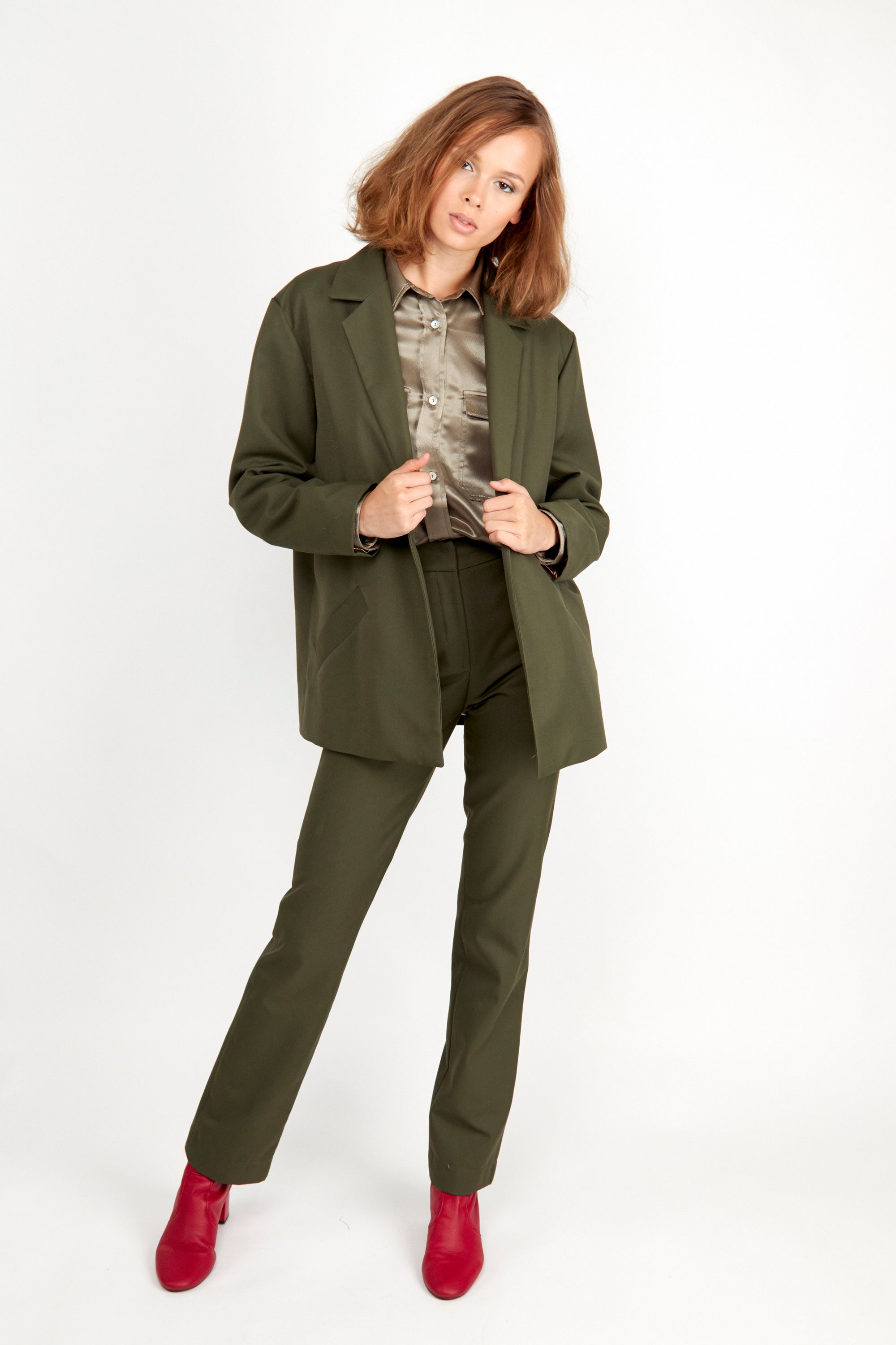 Janis Blazer Olive | Coats & Jackets | Fair Retail | [product_tag] - Fair Bazaar Ethical Living