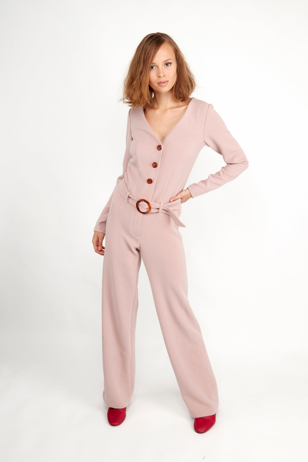 Eddie Jumpsuit Rose
