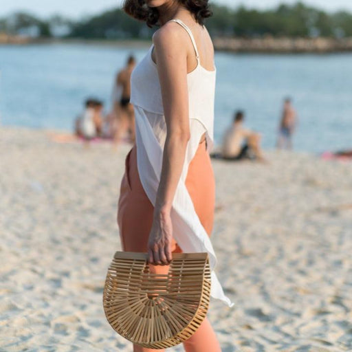 Bamboo Half Moon Bag | Accessories | Above Studio | [product_tag] - Fair Bazaar Ethical Living