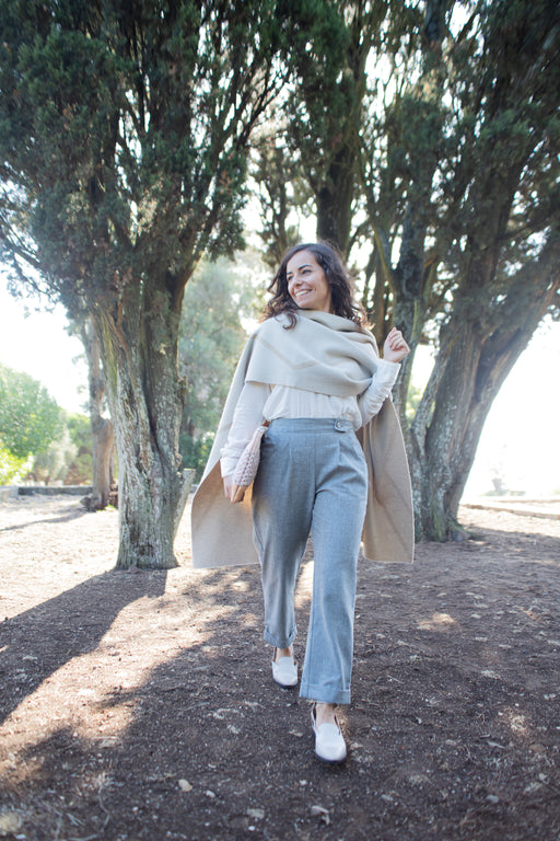 Wool Cropped Trousers | Bottoms | Näz | [product_tag] - Fair Bazaar Ethical Living