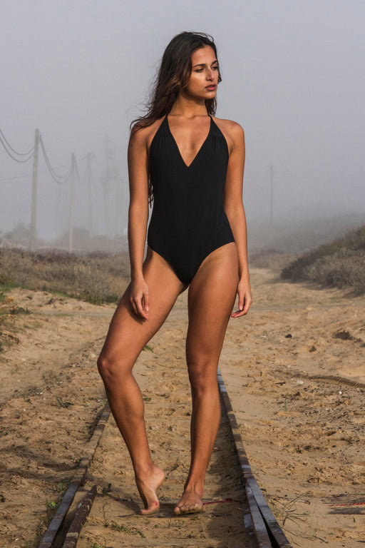 Halterneck One-Piece | Beachwear | Vaguedivague | [product_tag] - Fair Bazaar Ethical Living
