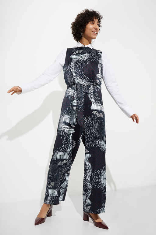 Merino Printed Jumpsuit | Dresses & Jumpsuits | Rhumaa | [product_tag] - Fair Bazaar Ethical Living