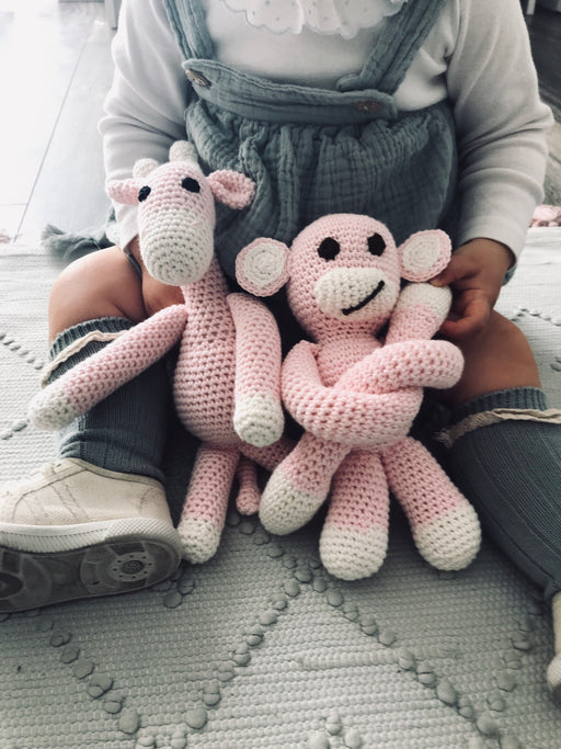 Monkey | Light Pink | Toys | Mimi Cuties | [product_tag] - Fair Bazaar Ethical Living