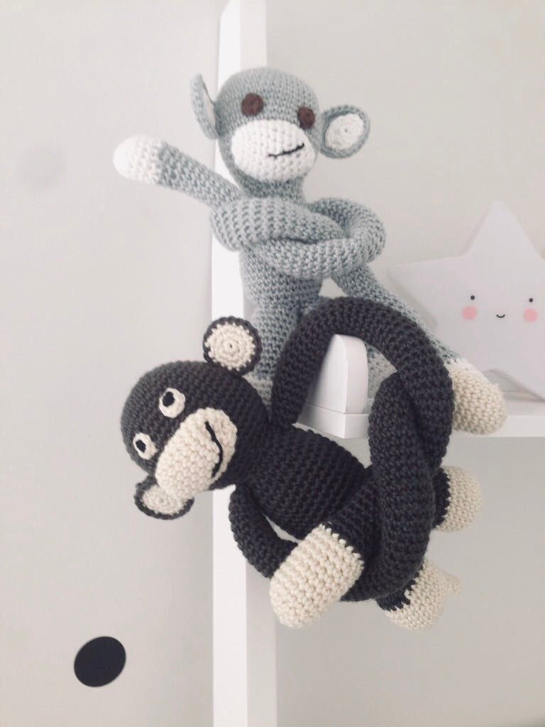 Monkey | Light Grey | Toys | Mimi Cuties | [product_tag] - Fair Bazaar Ethical Living