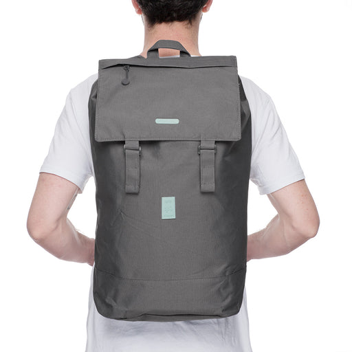 Eco Flap Backpack Large | Grey | Accessories | Lefrik | [product_tag] - Fair Bazaar Ethical Living