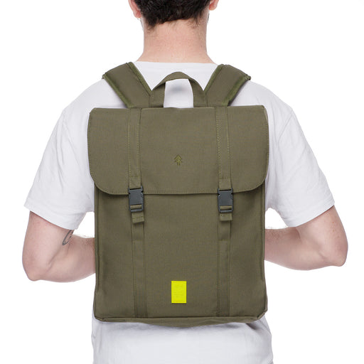 Eco Handy Backpack | Olive | Accessories | Lefrik | [product_tag] - Fair Bazaar Ethical Living
