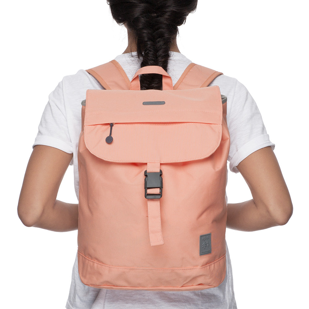 Eco Flap Backpack Small | Peach | Accessories | Lefrik | [product_tag] - Fair Bazaar Ethical Living