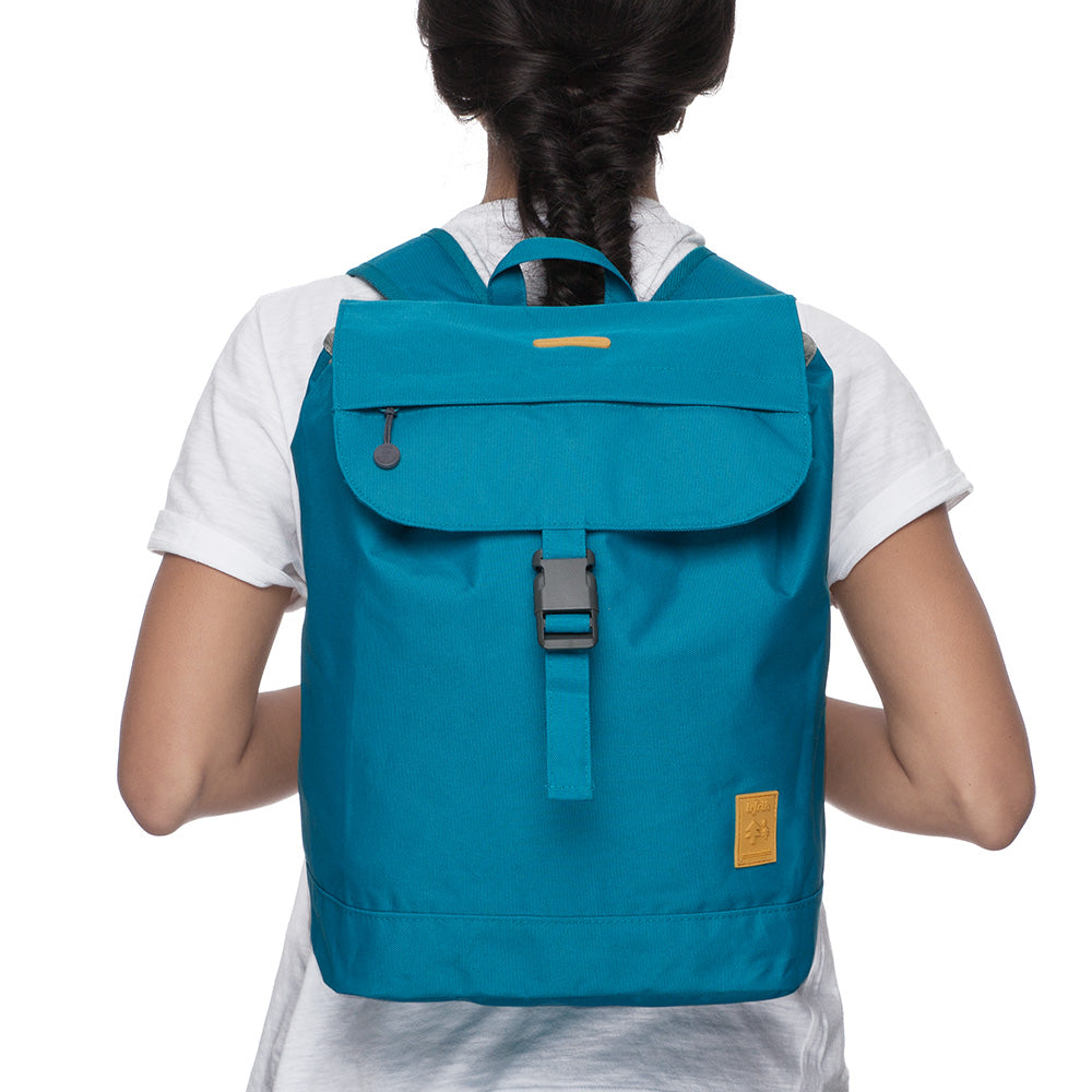 Eco Flap Backpack Small | Lake Blue | Accessories | Lefrik | [product_tag] - Fair Bazaar Ethical Living