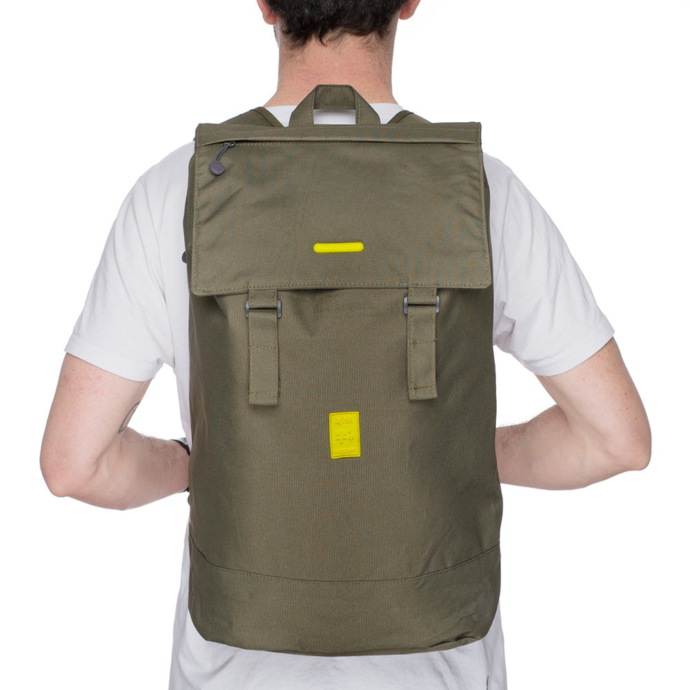 Eco Flap Backpack Large | Olive | Accessories | Lefrik | [product_tag] - Fair Bazaar Ethical Living