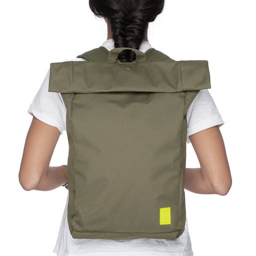 Eco Roll Backpack | Olive | Accessories | Lefrik | [product_tag] - Fair Bazaar Ethical Living