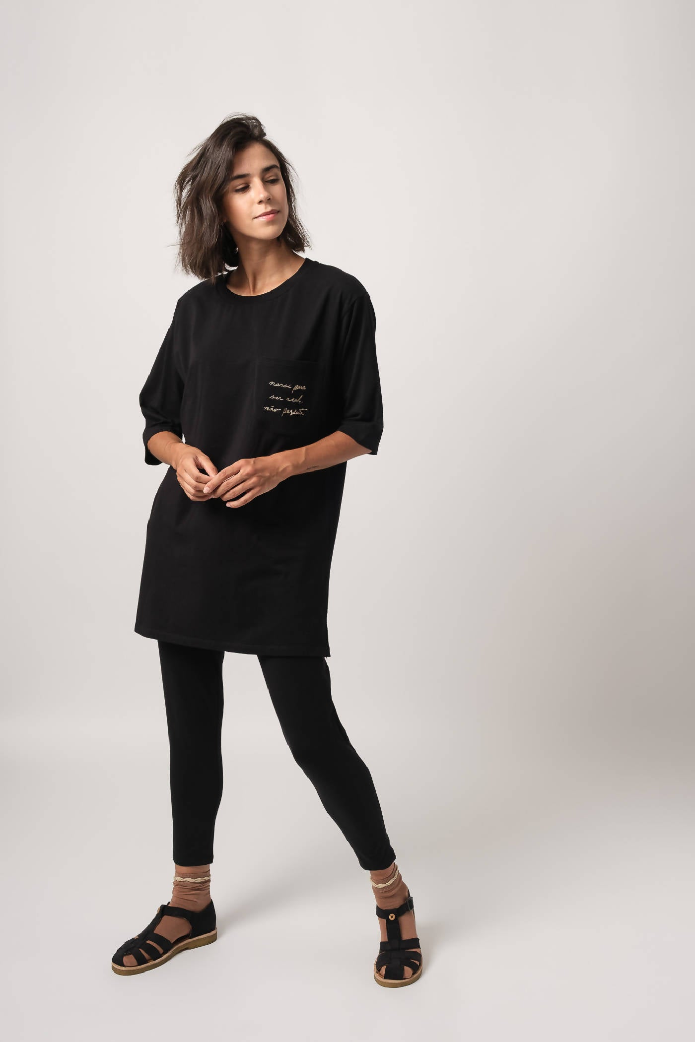 Organic T-shirt Grace Black