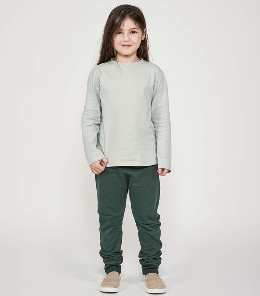Mighty Longsleeve - Aqua Grey - Fair Bazaar Ethical Living