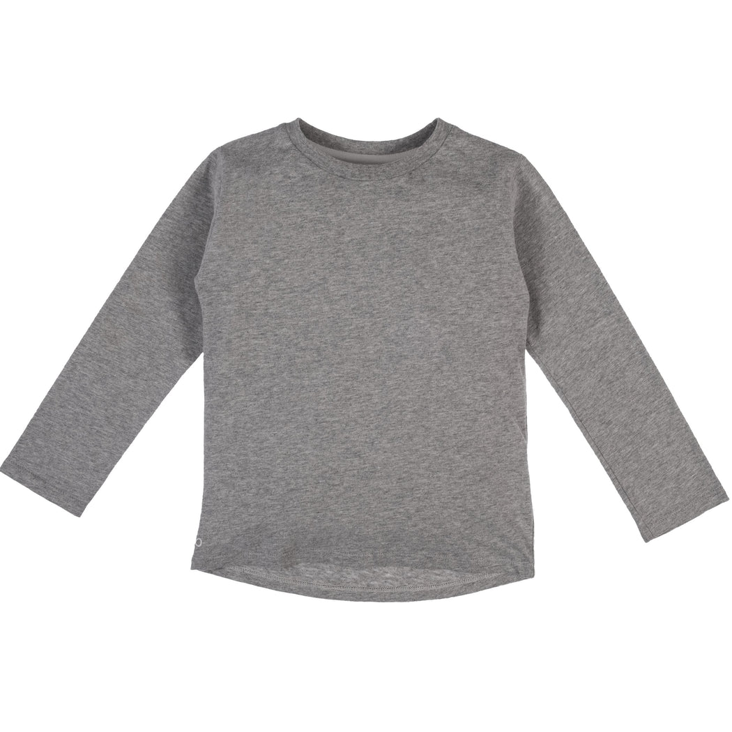 Mighty Longsleeve - Midgrey Melange | T-shirts & Tops | ORBASICS | [product_tag] - Fair Bazaar Ethical Living