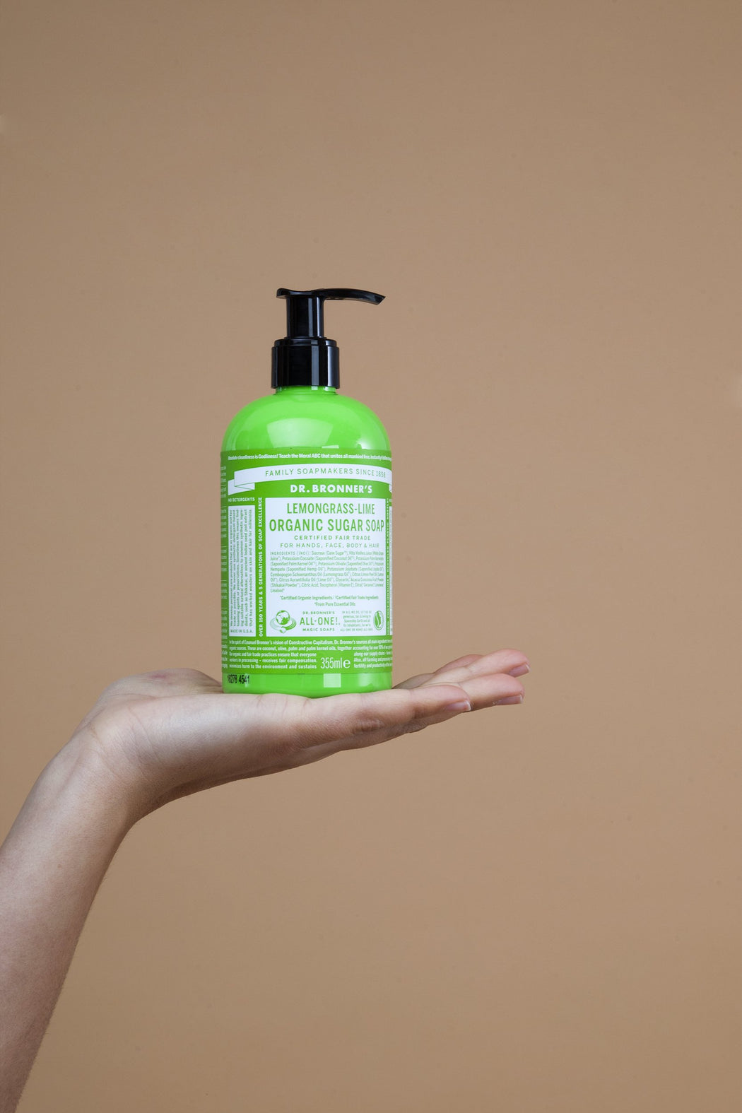 Lemongrass & Lime Sugar Soap | Beauty | Dr. Bronner's | [product_tag] - Fair Bazaar Ethical Living