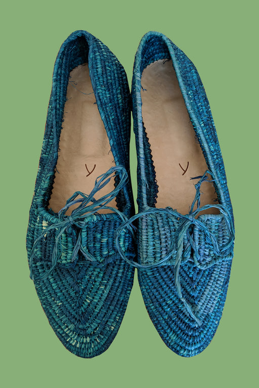 Raffia Summer Shoes | Blue
