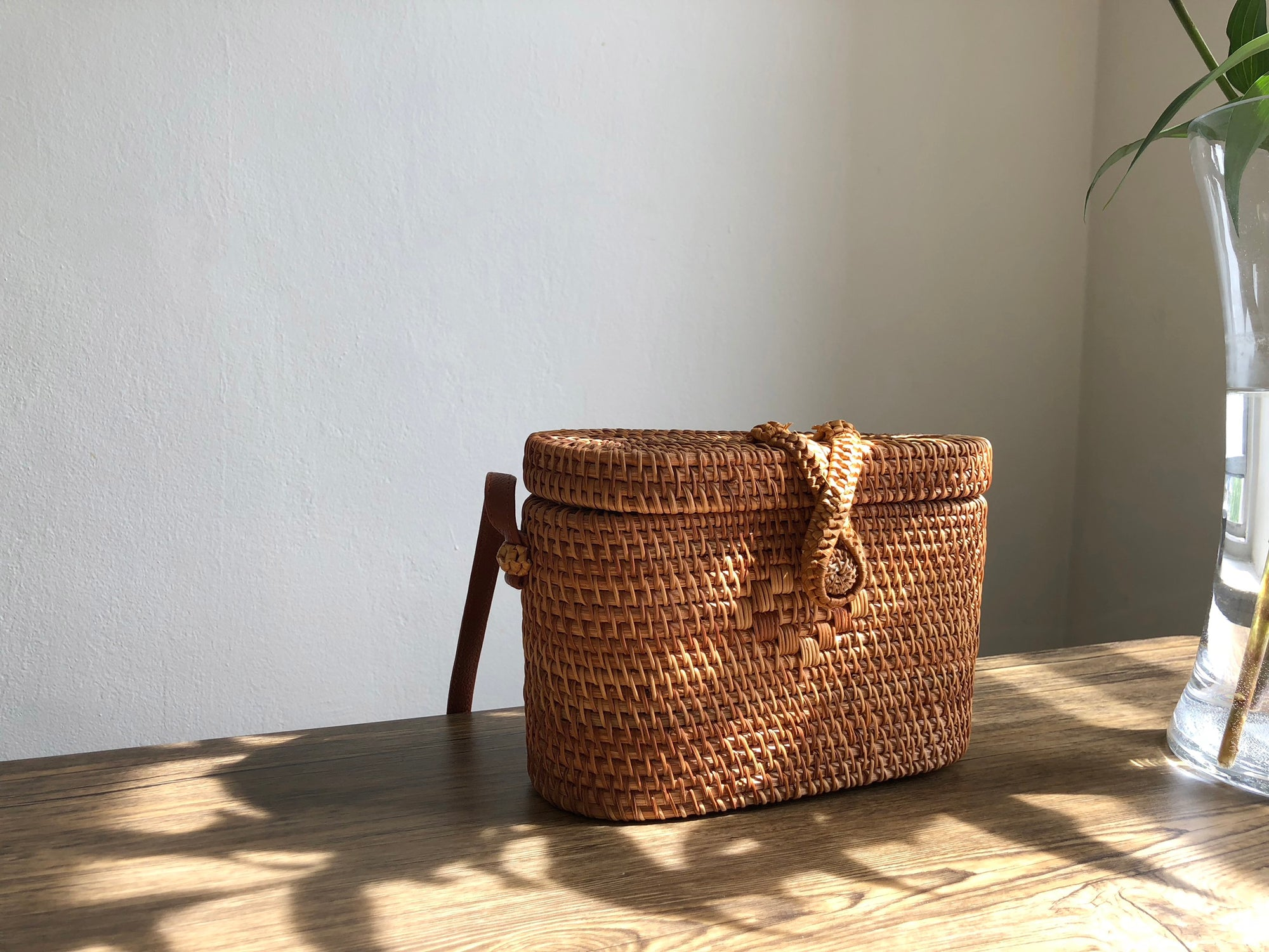 Rectangle Rattan Bag | Accessories | Above Studio | [product_tag] - Fair Bazaar Ethical Living