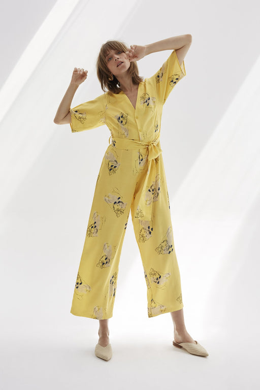 Virtue Printed Jumpsuit - Fair Bazaar Ethical Living