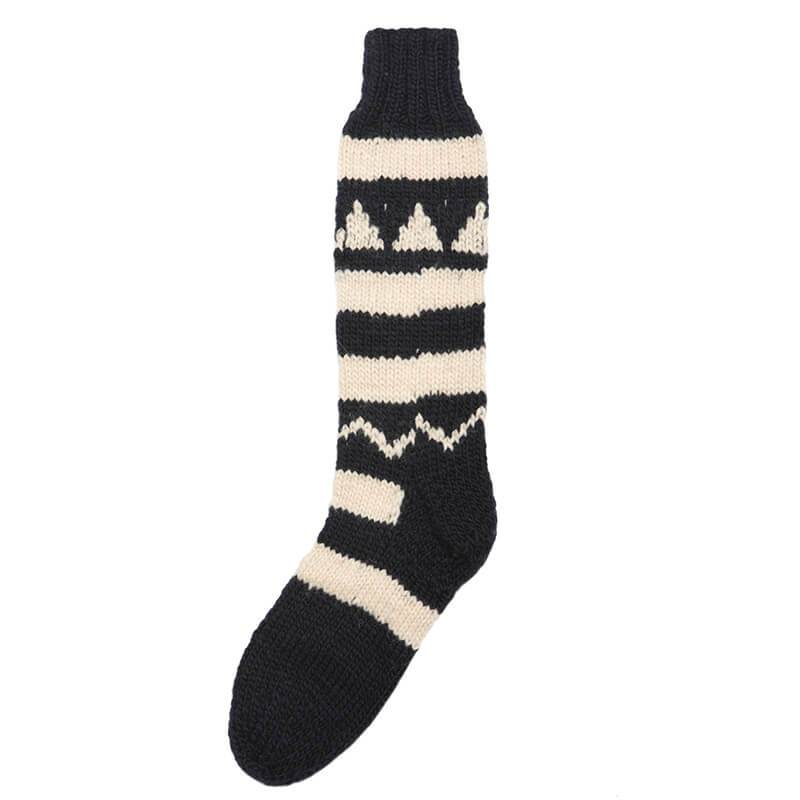 Hand-Knitted High Wool Socks