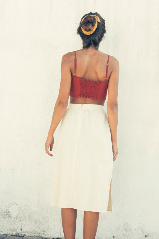 Comporta Skirt | Bottoms | Vanilla Sand | [product_tag] - Fair Bazaar Ethical Living