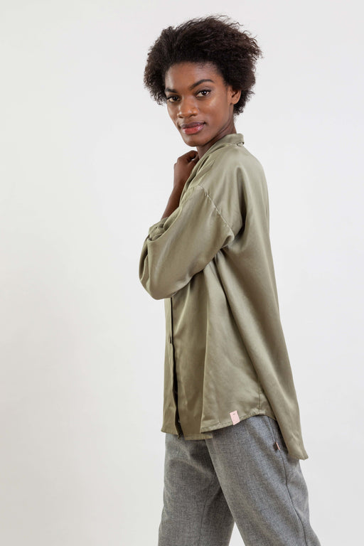 Lyocell Shirt | Green | Tops | Näz | [product_tag] - Fair Bazaar Ethical Living