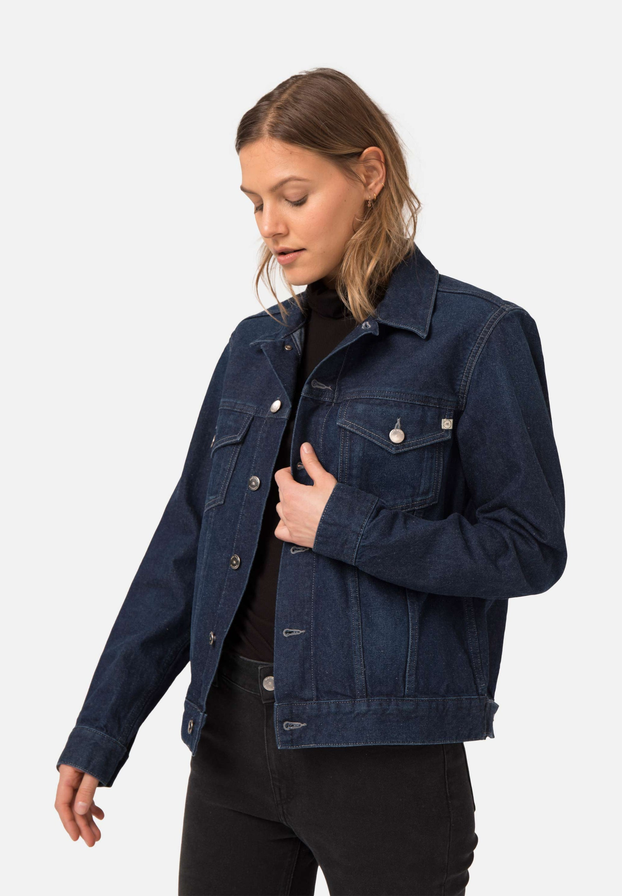 Tyler Jacket | Strong Blue | Coats & Jackets | Mud Jeans | [product_tag] - Fair Bazaar Ethical Living