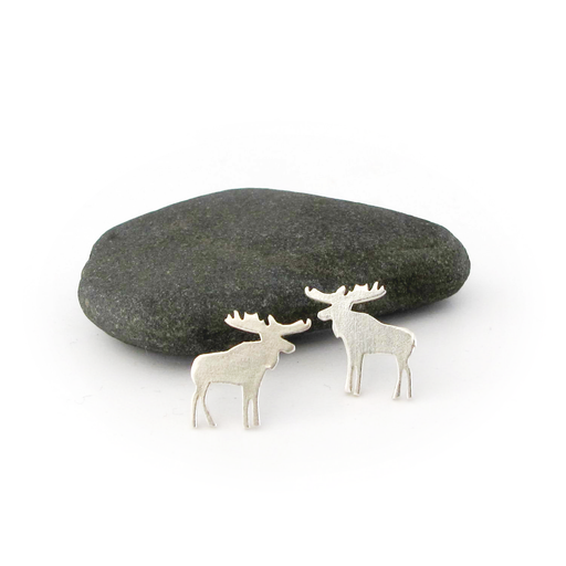 Moose Silver Earrings