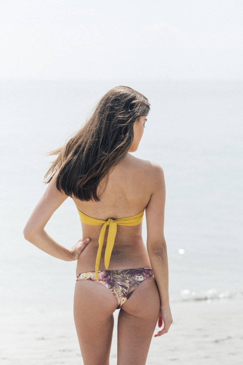 Bliss Bikini Top in Honey | Beachwear | Tuhkana Swimwear | [product_tag] - Fair Bazaar Ethical Living